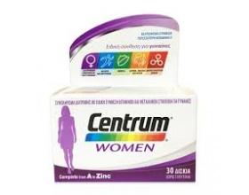 Centrum Women Complete form A to Zinc, Συμπλήρωμα βιταμινών & μεταλλικών στοιχείων, με ειδική σύνθεση για την κάλυψη των αναγκών της γυναίκας 30 δισκία