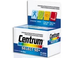 CENTRUM Select 50+ Συμπλήρωμα διατροφής με πλήρη και ισορροπημένη σύνθεση βιταμινών και μεταλλικών στοιχείων 30 δισκία