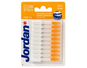 Jordan, Clean Between Sticks Orange, Μεσοδόντια Βουρτσάκια Large, 20τμχ