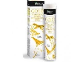 Inoplus, Gold Vitamin C 1500mg Vitamin D3 2000iu, Γεύση πορτοκάλι, 20Αναβράζοντα