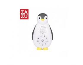 Zazu Zoe ο Πιγκουίνος συσκευή νανουρίσματος με Bluetooth & φως νυκτός, χρώματος γκρί, 1τμχ