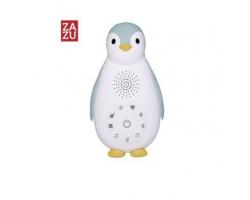 Zazu Zoe ο Πιγκουίνος συσκευή νανουρίσματος με Bluetooth & φως νυκτός, χρώματος μπλε, 1τμχ