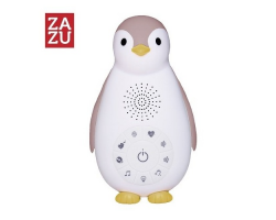 Zazu Zoe ο Πιγκουίνος συσκευή νανουρίσματος με Bluetooth & φως νυκτός, χρώματος ροζ, 1τμχ