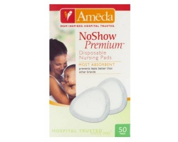 Ameda Noshow Premium Επιθέματα Στήθους μιας Χρήσης, 50 τεμ