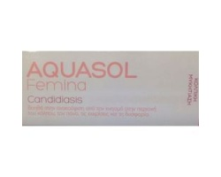 AQUASOL Femina Candidiasis Cream Gel για Κολπική Μυκητίαση - 30ml