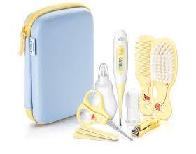Philips AVENT Baby Care Set, Σετ για την ολοκληρωμένη περιποίηση του μωρού σας μέσα σε πρακτικό τσαντάκι, περιέχει Ψηφιακό Θερμόμετρο SCH400/00, Ρινικό αποφρακήτρα, Οδοντόβουρτσα δαχτύλου, Σετ για τα νύχια, Βούρτσα & χτένα