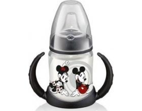 NUK ,First Choice Mickey Πλαστικό Μπιμπερό Εκπαίδευσης 2 Λαβές Μαύρο 150ml (10.743.455)
