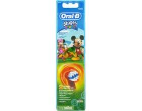 Oral-B Stages Power Mickey 2τμχ, Ανταλλακτικές κεφαλές οδοντόβουρτσας για παιδιά 2 τεμάχια