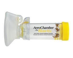 AeroChamber, Plus Flow-Vu With Medium Mask (1-5 Years), Aεροθάλαμος Eισπνοών με Mάσκα για παιδιά 1-5 ετών (με κίτρινο χρώμα)