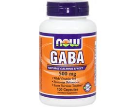Now Foods Gaba 500mg, Συμπλήρωμα Διατροφής συμβάλει στην προώθηση της χαλάρωσης και στην ανακούφιση από νευρική υπερένταση, 100 κάψουλες