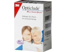 3M Opticlude Maxi 5.7cm x 8.2cm Οφθαλμικά Αυτοκόλλητα Επιθέματα 20 Τεμάχια