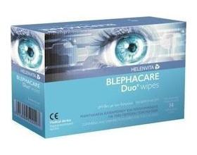 HELENVITA  BlephaCare Duo, Υγρά μαντηλάκια για ντεμακιγιάζ και προστασία των ματιών 30 μαντηλάκια μιας χρήσης
