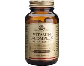 Solgar Vitamin B-Complex with vitamin C Συμπλήρωμα διατροφής με Σύμπλεγμα βιταμινών Β με C χρήσιμο σε καταστάσεις στρες 100 ταμπλέτες