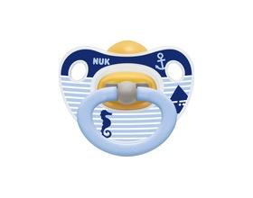 NUK Happy Kids, Ορθοδοντική πιπίλα από καουτσούκ Ν2  για βρέφη 6-18 μηνών (Ιππόκαμπος)