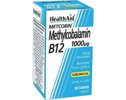 Health Aid Methylcobalamin Metcobin B12 1000mg με γεύση φραγκοστάφυλο 60 ταμπλέτες