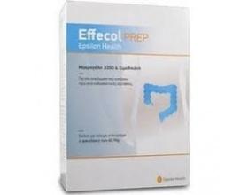EPSILON HEALTH Effecol prep 3350, Οσμωτικό υπακτικό Για την εκκένωση του εντέρου πριν από ενδοσκοπικές εξετάσεις, 4 φακελίσκοι