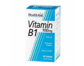 Health Aid VITAMIN B1 Thiamin Συμπλήρωμα Διατροφής για τον Μεταβολισμο των υδατανθρακων, την παραγωγή ενέργειας και τη φυσιολογική λειτουργία του νευρικόυ συστήματος, 90tbs