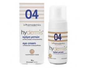 Pharmadermics  Hydermis 04 Κρέμα Ματιών Rυτίδες-μαύροι κύκλοι-σακούλες, για όλους τους τύπους δέρματος και όλες τις ηλικίες 15ml