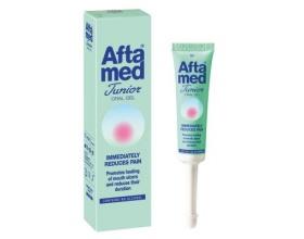 Aftamed Junior Gel παρέχει γρήγορη ανακούφιση στα παιδιά από τον πόνο που προκαλείται από έλκη στο στόμα ή τραυματισμούς από σιδεράκια 15ml