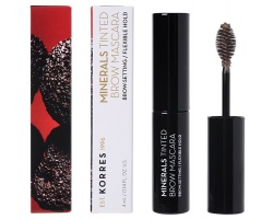 Korres Minerals Tinted Brow Mascara No03 light Shade Μάσκαρα φρυδιών με ελαστικό κράτημα 4ml