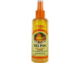 HEI POA Monoi Dry Oil SPF15 Tiare Spray Ξηρό Αδιάβροχο Αντηλιακό Λάδι Monoi, με άρωμα Tiare, 150 ml