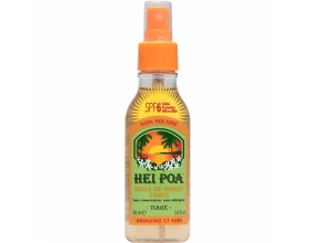 HEI POA Tahiti Monoi Oil Tiare Spray Spf6 Αντηλιακό Λάδι με Άρωμα Tiare  για Προστασία από τον Ήλιο, 100ml