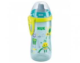 NUK, Flexi Cup Παγουράκι με καλαμάκι Soft, 18m+, Μπλε, 300ml, Nr. 10.750.601, 1τμχ.