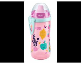 NUK, Flexi Cup Παγουράκι με καλαμάκι Soft, 18m+, Ροζ, 300ml, Nr. 10.750.601, 1τμχ.