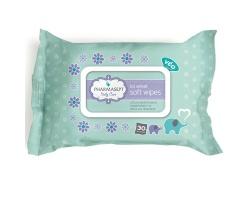 Tol Velvet Pharmasept Baby Soft Wipes Παιδικά μαντηλάκια χωρίς οινόπνευμα για τα χέρια & το πρόσωπο 30τμχ