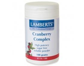 LAMBERTS Cranberry Complex Powder Διατήρηση της Υγείας του Ουροποιητικού Συστήματος 100gr
