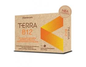 Genecom TerraB12 Συμπλήρωμα διατροφής για την καλή λειτουργία του νευρικού συστήματος 30 caps