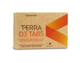 Genecom Terra D3 Ιδιαίτερα χρήσιμη για την υποστήριξη των οστών και του ανοσοποιητικού συστήματος 60 tabs