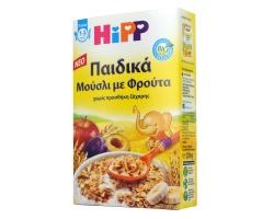 HiPP, Παιδικά Μούσλι με Φρούτα Βιολογικής Καλλιέργειας για Παιδιά, 1-3 ετών, 200gr.