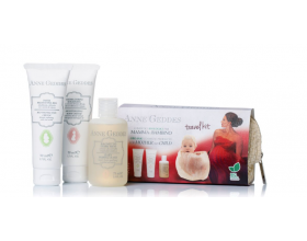 Anne Geddes Travel Kit For Mother & Chird BIO Κρέμα αλλαγής πάνας, 50ml & Ενυδατική & Αναπλαστική κρέμα σώματος, 50ml & Παιδικό Αφρόλουτρο, 75ml.