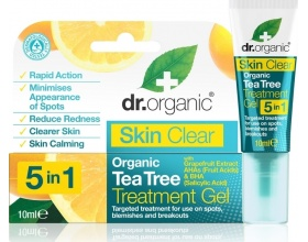 Dr Organic Skin Clear Organic Tea Tree Treatment Gel  Mειώνει τις κηλίδες & τα μαύρα στίγματα 10ml