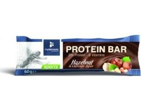 MyElements Sports Protein Bar Mπάρα Πρωτεΐνης εμπλουτισμένη με βιταμίνες, με γεύση Φουντούκι, 60gr