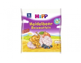 HiPP,  Ρυζογκοφρετάκια Mήλου και Bατόμουρου, 30gr