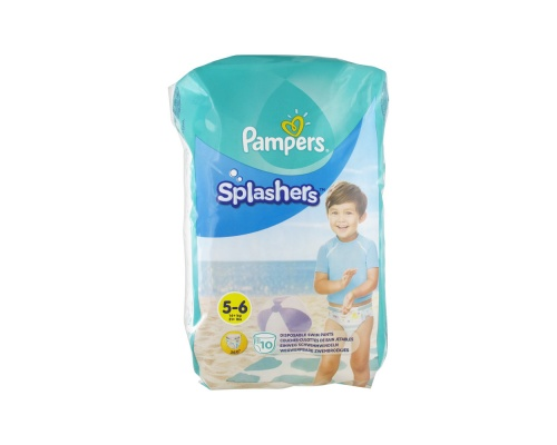 Pampers Splashers, Πάνα-Μαγιό, Μέγεθος 5-6, 14+kg, 10 πάνες