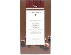 KORRES 5.6 Βαφή Μαλλιών με Έλαιο Argan & φυτική Κερατίνη, Καστανό Ανοιχτό Κόκκινο 50ml