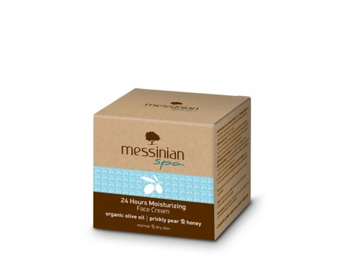 Messinian Spa Ενυδατική Κρέμα Προσώπου 24ώρου για Κανονικές & Ξηρές Επιδερμίδες, 50ml