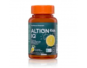 Altion Kids IQ συμπλήρωμα διατροφής πλούσιο σε Ω – 3 λιπαρά οξέα (α-λινολενικό οξύ) φυτικής προέλευσης από έλαιο λιναρόσπορου, βιταμίνες (A, E, B5, B6) και ψευδάργυρο 60τμχ