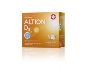 Altion D3  συμβάλλει στην υγεία των οστών και των δοντιών, καθώς και στην φυσιολογική λειτουργία των μυών και του ανοσοποιητικού 30 Φακελάκια