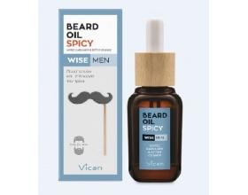 Vican Wise Men Beard Oil Spicy Λάδι που  μαλακώνει και δίνει λάμψη στο μούσι του άντρα χωρίς να λαδώνει 30ml