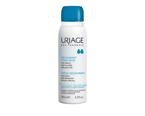Uriage Deodorant Fraicheur Αποσμητικό Σπρέι 24ωρης Προστασίας, 125ml