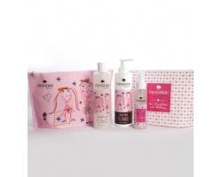 Messinian Spa Daughter & Mommy Shower Gel Αφρόλουτρο 300ml & Body Milk γαλάκτωμα 300ml & Hair & Body Mist 100ml Free Gift Cosmetic Bag
