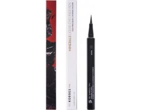 KORRES MINERALS Liquid Eyeliner Pen 01 BLACK Αδιάβροχο eyeliner σε μορφή μαρκαδόρου 1ml