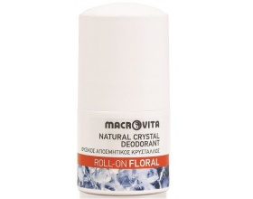Macrovita Natural Crystal Deodorant Roll-On Floral Φυσικός Αποσμητικός Κρύσταλλος 50ml