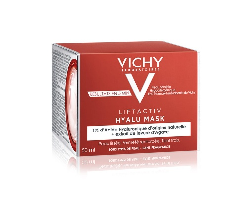 VICHY Liftactiv Hyalu Mask Μάσκα προσώπου με υαλουρονικό οξύ για τη νύχτα 50ml