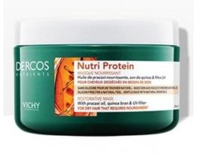 VICHY NUTRIENTS Dercos Nourish masque Μάσκα αναδόμησης με θρεπτικό έλαιο pracaxi πίτουρο quinoa & φίλτρο UV 250ml