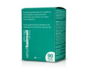 Vencil Hairnail Caps Συμπλήρωμα διατροφής που συμβάλλει στη διατήρηση της φυσιολογικής κατάστασης των μαλλιών, των νυχιών και του δέρματος 90 κάψουλες